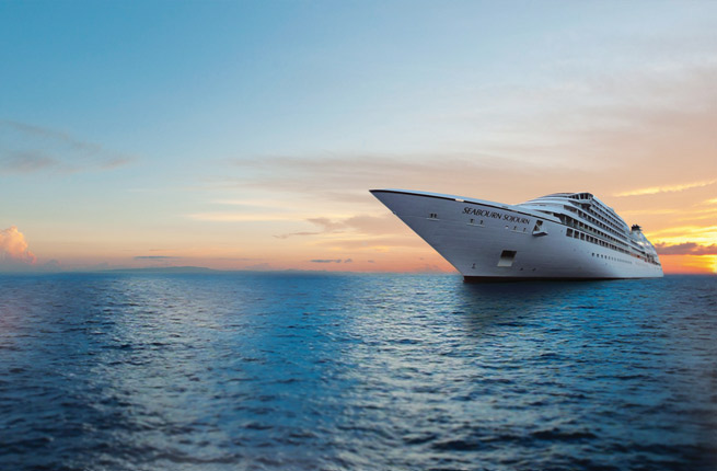 Seabourn Sojourn at Sunset