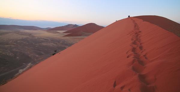 Climbing-the-Dunes-of-Sossusvlei-at-Sunrise